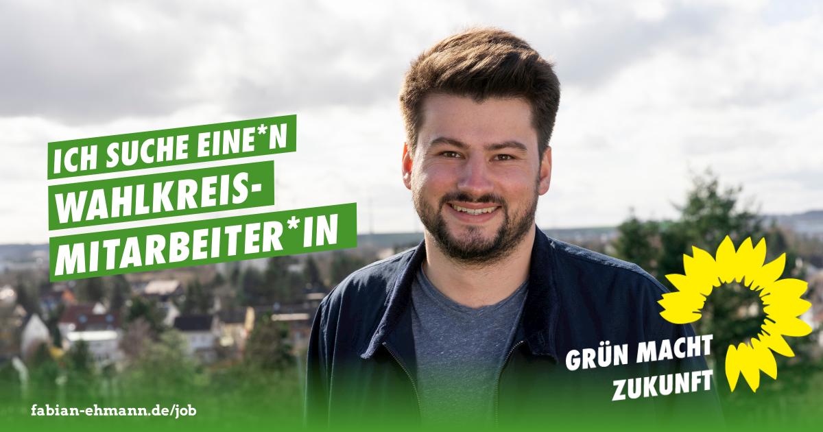 Stellenausschreibung als Wahlkreismitarbeiter*in (m/w/d) im Wahlkreisbüro Fabian Ehmann, MdL
